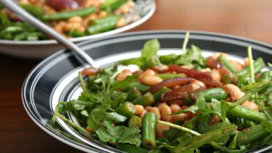 Photo of Asparagus and Arugula Salad with Cannellini Beans