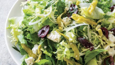 Photo of Bitter Greens Salad with Olives and Feta