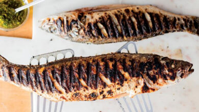 Photo of Grilled Whole Sea Bass with Salmoriglio Sauce